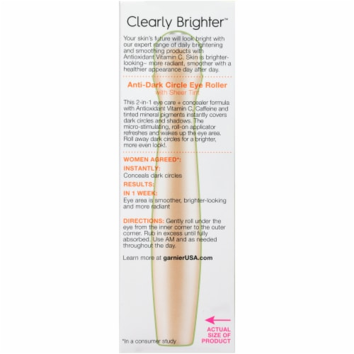 Garnier SkinActive Clearly Brighter Light/Medium Sheer Tint Anti-Dark Circle Eye Roller Perspective: back