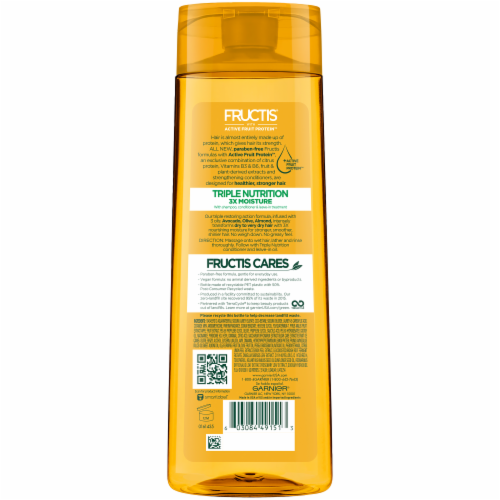 Garnier Fructis Triple Nutrition Paraben-Free Fortifying Shampoo Perspective: back