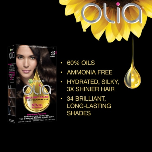 Garnier Olia Bold Intense Fire Ruby 7.45 Hair Color Perspective: back