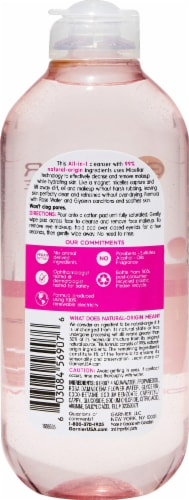 Garnier All-in-1 Hydrating Micellar Cleansing Water with Rose Water Perspective: back