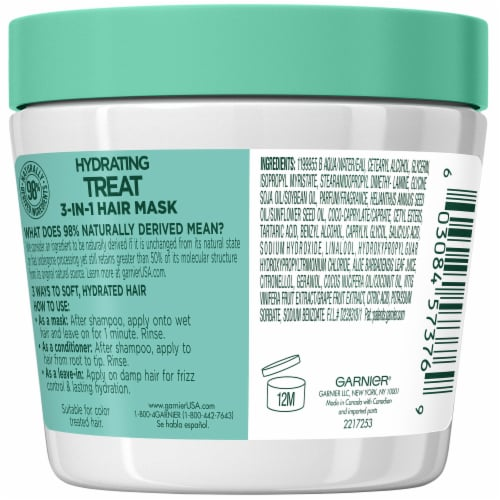 Garnier® Fructis® Hydrating Treat 1 Minute Aloe Extract Hair Mask Perspective: back