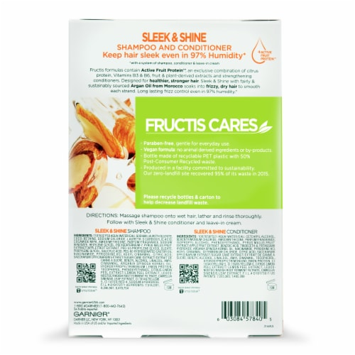 Garnier Fructis Sleek & Shine Shampoo and Conditioner Two Pack Perspective: back
