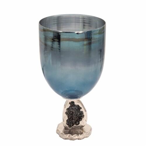 17  Glass Hurricane, Blue Perspective: back