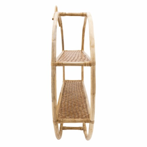 Rattan, 29  Round Shelf, Natural Perspective: back