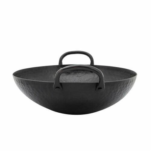 Metal, 12  Hammered Bowl, Black Perspective: back