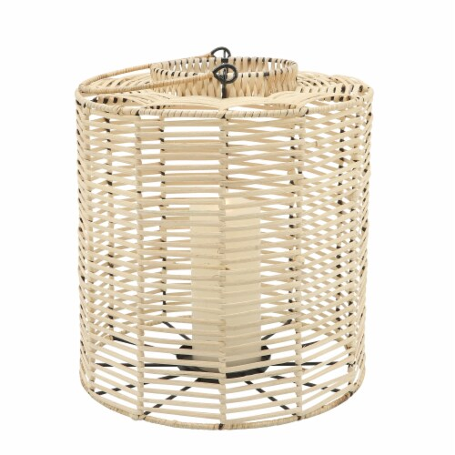 Rattan, S/2 15/18  Hurricane Candle Holder, Nat Perspective: back