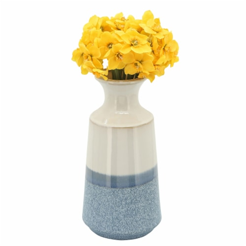 Cer, 12 H Vase, Sky Blue Perspective: back