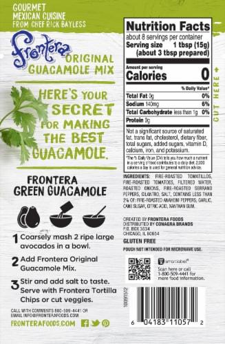 Frontera Original Guacamole Mix with Tangy Tomatillo Green Chile + Garlic Perspective: back
