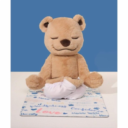 Meddy Teddy's Mindfulness Yoga Mat - Thin Rubber Mat Perspective: back