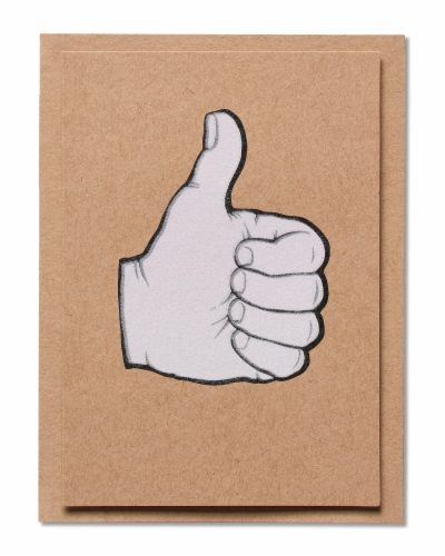 American Greetings Congratulations Card (Thumbs-Up) Perspective: back