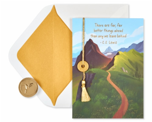 Papyrus Graduation Card (Better Things Ahead) Perspective: back