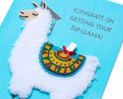 Papyrus Graduation Card (Dip-llama) Perspective: back