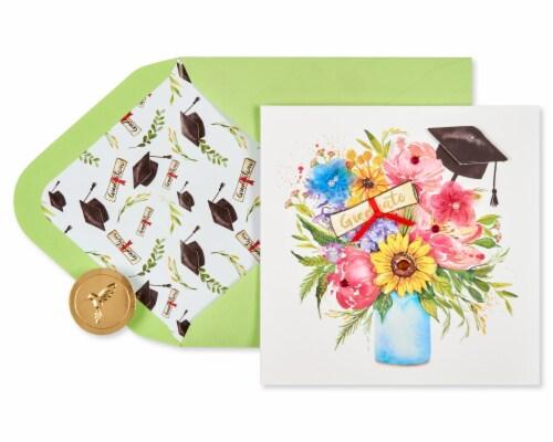 Papyrus Graduation Card (Floral Cap) Perspective: back
