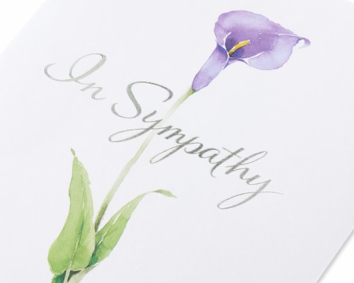 American Greetings #41 Sympathy Card (Flower) Perspective: back