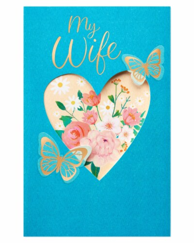 American Greetings #64 Valentine's Day Card for Wife (Butterflies) Perspective: back