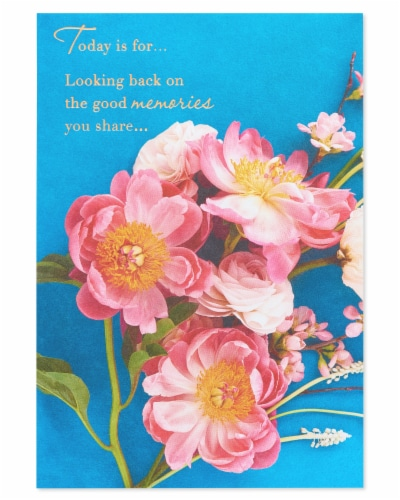 American Greetings #52 Anniversary Card (Good Memories) Perspective: back