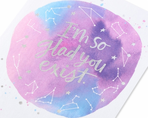 American Greetings #21 Birthday Card (Glad You Exist) Perspective: back