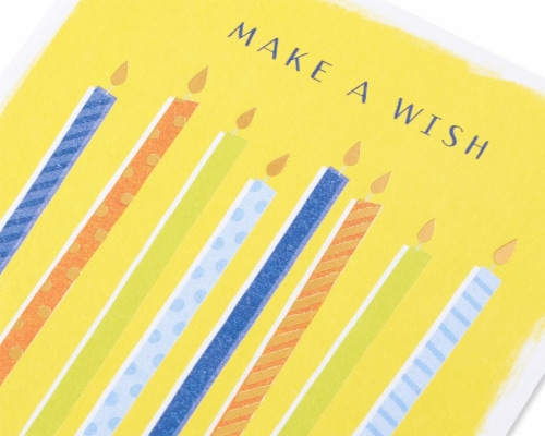 American Greetings #60 Birthday Card (Make a Wish) Perspective: back
