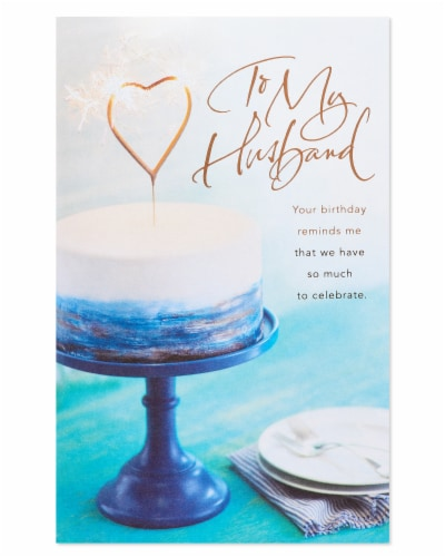 American Greetings #13 Birthday Card for Husband (Celebrate) Perspective: back