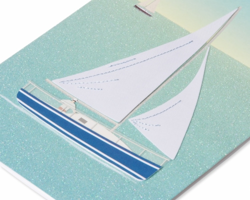 Papyrus Birthday Card (Sailboat) Perspective: back