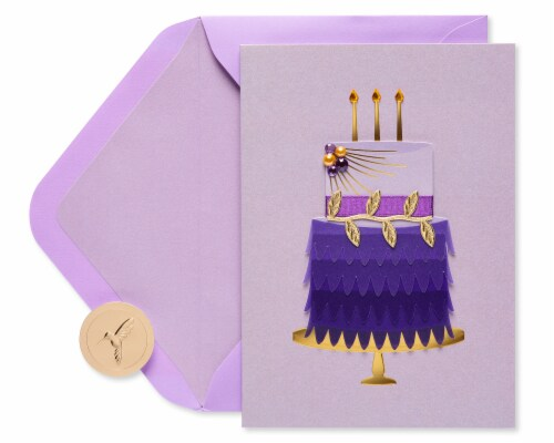 Papyrus Birthday Card (Eloquent Cake) Perspective: back
