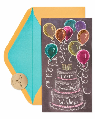 Papyrus Birthday Card (Birthday Cake and Chalkboard) Perspective: back