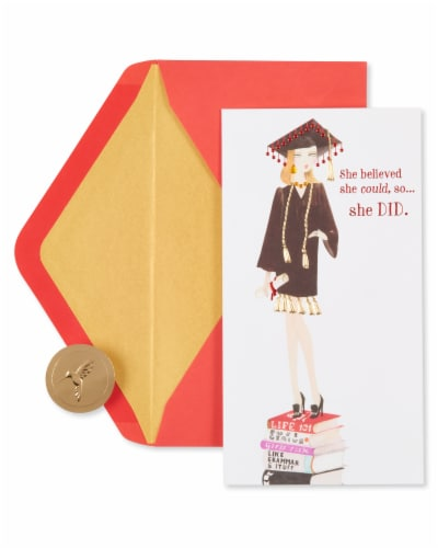 Papyrus Graduation Card (She Believed) Perspective: back