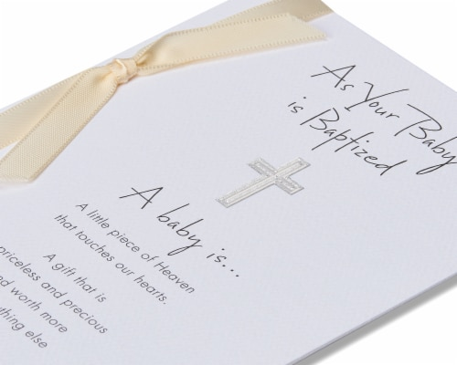 American Greetings Baby Baptism Card (Piece of Heaven) Perspective: back
