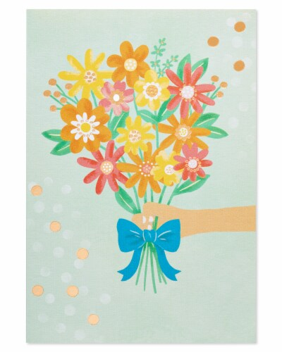 American Greetings #37 Thank You Card (Bouquet) Perspective: back