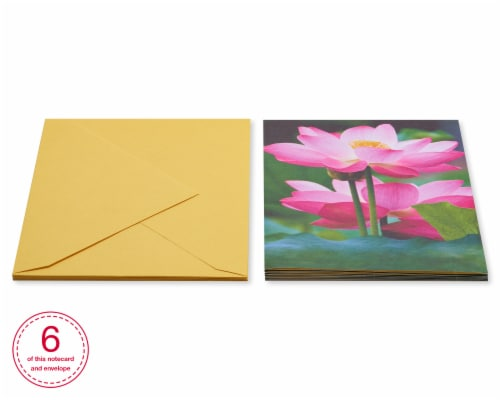 American Greetings #39 Blank Card (Flower) Perspective: back
