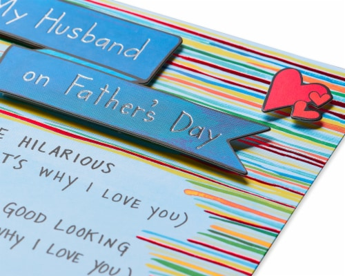 Papyrus Father's Day Card for Husband (Why I Love You) Perspective: back
