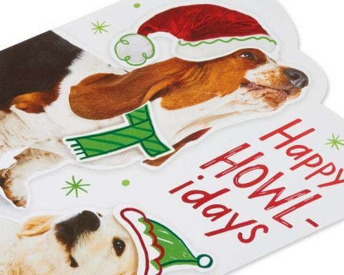 American Greetings Christmas Card (Happy Howl-idays) Perspective: back