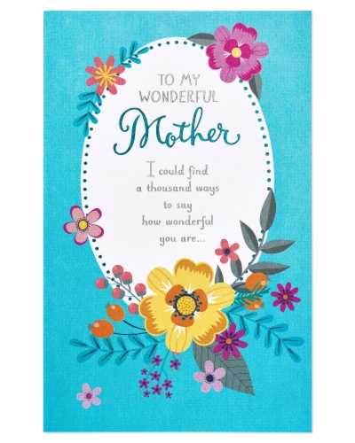 American Greetings #59 Mother's Day Card (Wonderful Mother) Perspective: back
