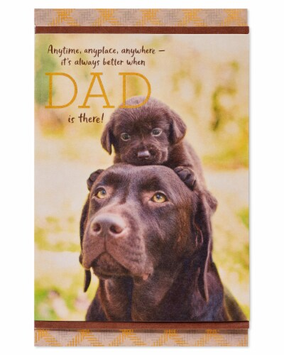 American Greetings #59 Father's Day Card (Dogs) Perspective: back