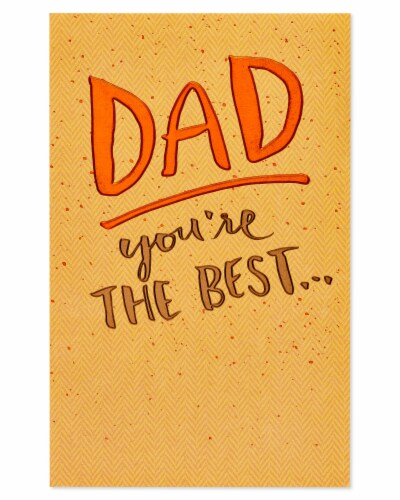American Greetings #60 Father's Day Card (You're the Best) Perspective: back