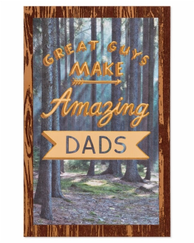 American Greetings #64 Father's Day Card (Amazing Dad) Perspective: back