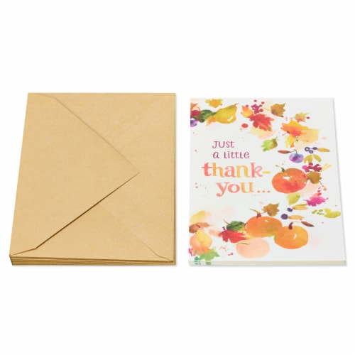 American Greetings Thinking of You Card, 6-Count (Leaves and Pumpkins) Perspective: back