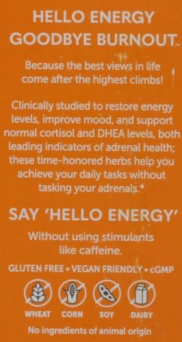 Himalaya Hello Energy Adrenal Support With Ashwagandha Vegetarian Capsules Perspective: back