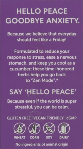 Himalaya Hello Peace Stress Relief Vegetarian Capsules Perspective: back