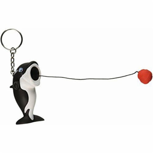 Hog Wild Toys Popper Orca Keychain Perspective: back