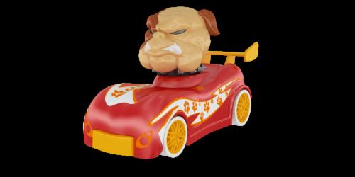 Knuckle-Headz Bulldog Perspective: back