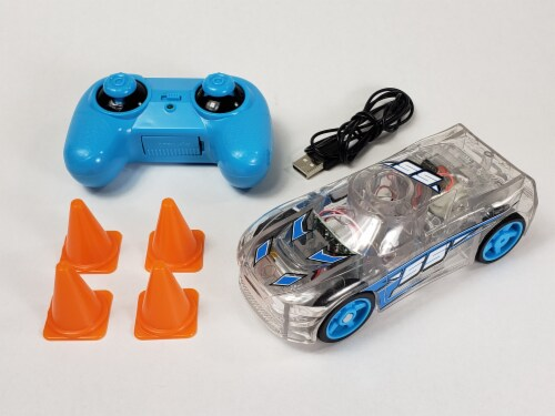 Remote Control Marble Racer - Blue Perspective: back