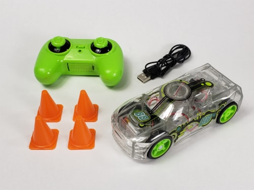 Remote Control Marble Racer - Green Perspective: back