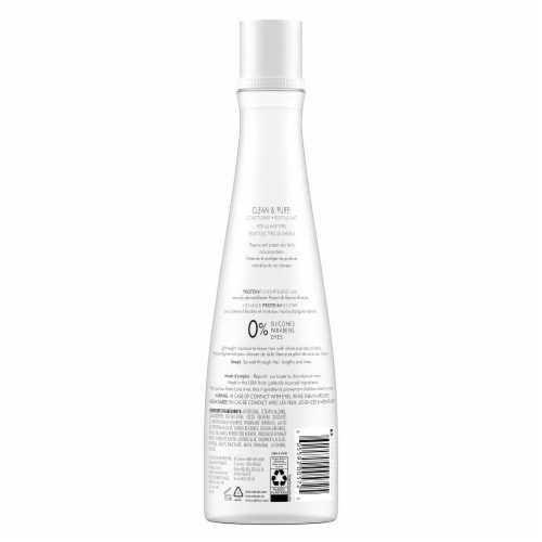Nexxus Silicone & Paraben-Free Clean & Pure Nourishing Conditioner with ProteinFusion Perspective: back