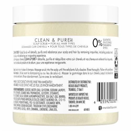 Nexxus Clean & Pure Invigorating Detox Scalp Scrub Perspective: back