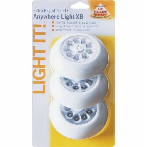 Light It™ 9-Bulb White LED Battery Tap Light Perspective: back