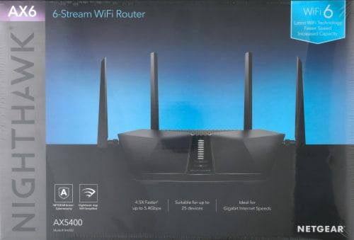 NETGEAR Nighthawk AX6 RAX50 IEEE 802.11ax Ethernet Wireless Router Perspective: back