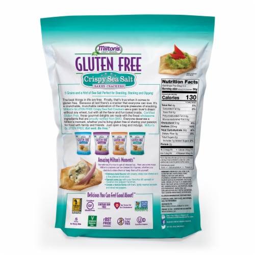 Milton's Craft Bakers Gluten Free Crispy Sea Salt Crackers Perspective: back