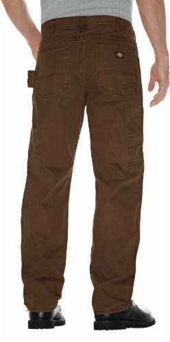 Dickies Men's Big & Tall Relaxed Fit Sanded Duck Carpenter Jeans - Rinsed Timber Perspective: back