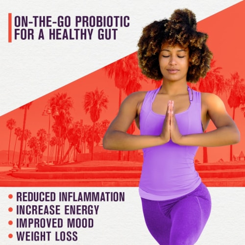 Natural Kombucha Powder Probiotic Supplement - On-The-Go Powder (Mix with Water and Drink) Perspective: back
